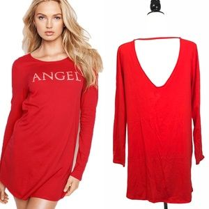Victoria's Secret ANGEL V cut out Back Long Sleeve